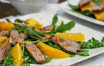 Теплый салат с уткой рецепт