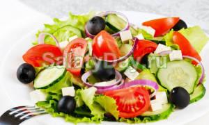 Греческий салат с фетаксой рецепт