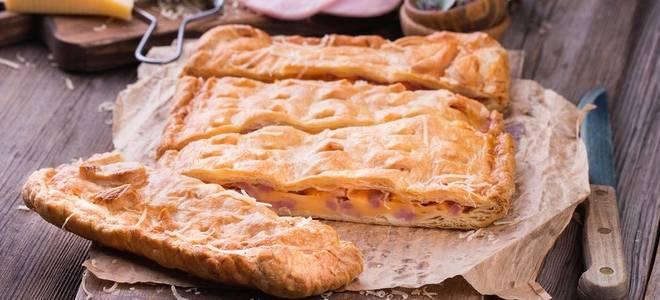 Пирог с ветчиной и сыром рецепт