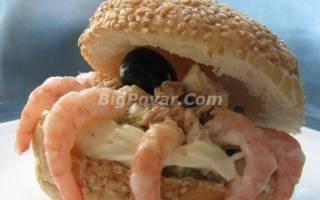 Салат «Морское чудо» с креветками рецепт