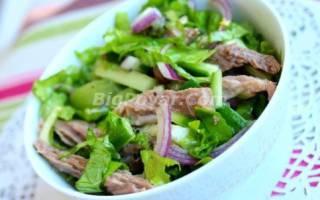 Салат из отварной говядины с киви рецепт