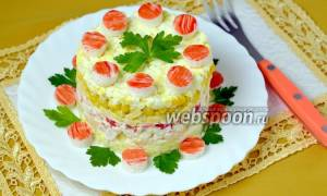 Салат крабовый с ананасами рецепт