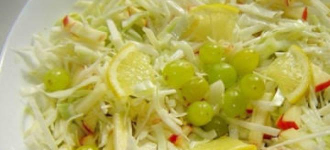 Постный салат с капустой рецепт