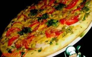 Пицца в духовке рецепт