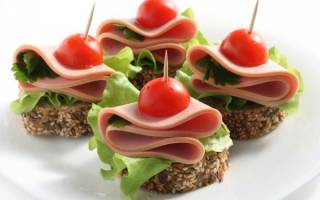Бутерброды канапе на праздничный стол рецепт
