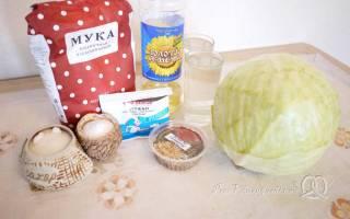 Постный пирог с капустой рецепт