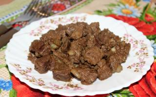 Свиная печень на сковороде рецепт