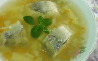 Суп из минтая рецепт
