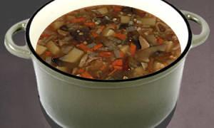 Суп из замороженных грибов с перловкой рецепт