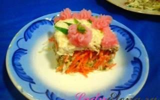 Омлетный салат с колбасой рецепт