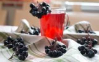Компот из черноплодной рябины рецепт
