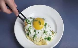 Яичница с сыром рецепт