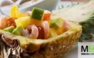 Салат из креветок с ананасами рецепт