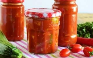 Кабачки в томатном соке на зиму рецепт