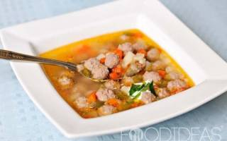 Ароматный суп с фрикадельками и овощами