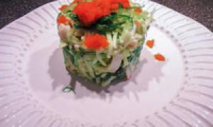 Салат из крабового мяса рецепт