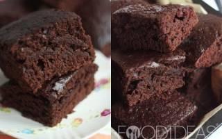 Шоколадный пирог на воде