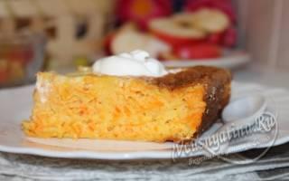 Творожная запеканка с морковью