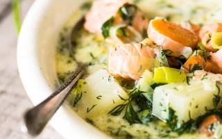 Финский суп с лососем и сливками рецепт