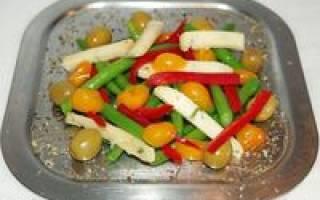 Очень вкусный салат с белой консервированной фасолью рецепт