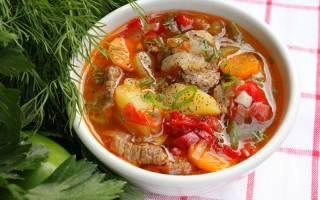 Суп-гуляш из говядины рецепт