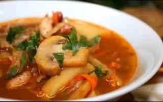 Грибной суп из свежих грибов рецепт
