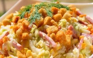 Салат с кириешками рецепт