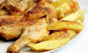 Цыпленок табака в духовке с картошкой рецепт