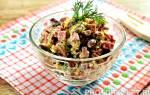 Салат Обжорка с фасолью и копченой колбасой: рецепт с фото