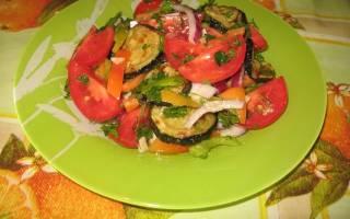 Салат щедрая осень со свежими овощами рецепт