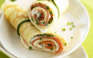 Блины с рыбой и сыром рецепт