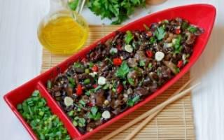 Салат из древесных грибов рецепт