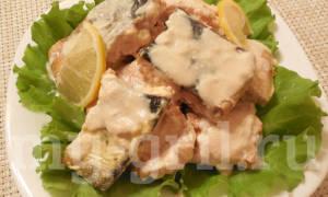 Горбуша, запеченная в сливках в духовке рецепт