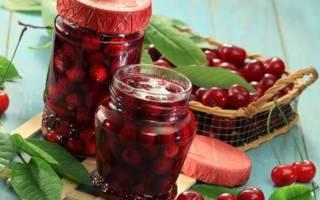 Черешня в собственном соку на зиму: рецепт с фото пошагово