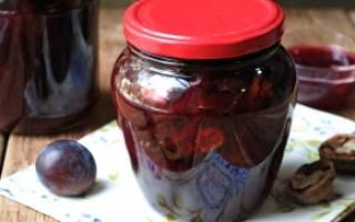 Сливовое варенье с грецкими орехами рецепт