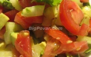 Салат из авокадо с помидорами и кинзой рецепт