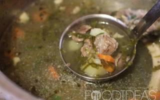 Щавелевый суп с говядиной