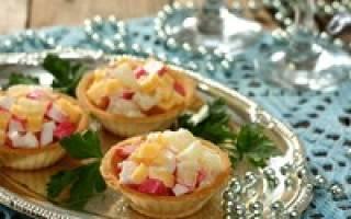 Салат из крабовых палочек в тарталетках рецепт