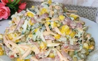 Салат из кукурузы консервированной, яиц и огурца свежего