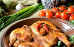 Цыпленок табака на сковороде