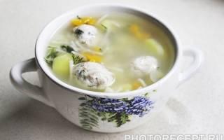 Суп с куриными фрикадельками рецепт