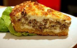Мясной заливной пирог рецепт