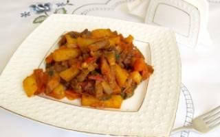 Азу по татарски с солеными огурцами: рецепт с фото