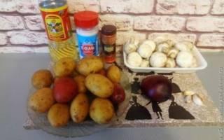 Картофель с грибами в духовке рецепт