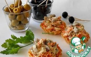 Салат с маринованными шампиньонами простой рецепт
