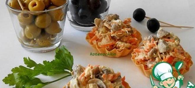 Салат из свежих шампиньонов рецепт