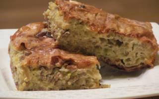 Пирог с капустой на кефире