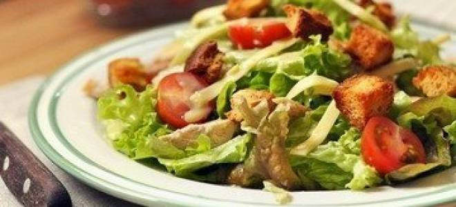 Салат цезарь с курицей рецепт