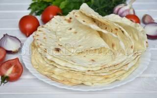 Домашний армянский лаваш рецепт