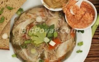 Холодец из свиных ножек с желатином рецепт
